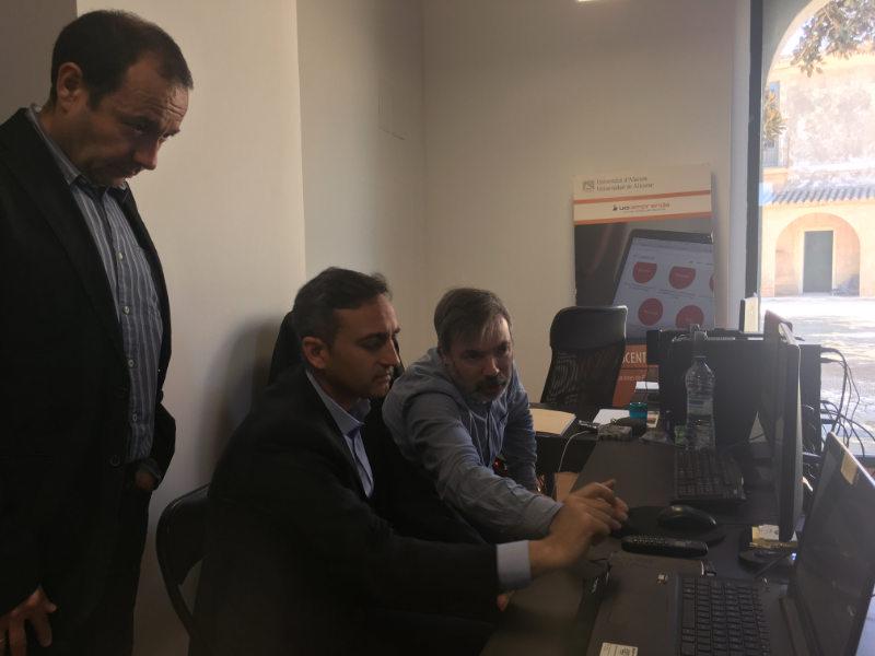 Visita del Presidente de la Diputación, Alcalde de Alicante y autoridades